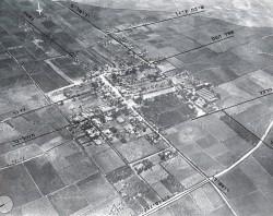 תצלום אוויר (1917) של מרכז המושבה ההיסטורי - ראשון לציון